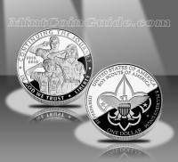2010-P Boy Scouts of America Centennial Proof Silver Dollar