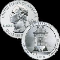 2010 Hot Springs Silver Bullion Coin