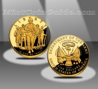 2011 $5 United States Army Commemorative Proof Gold Coin (US Mint images)