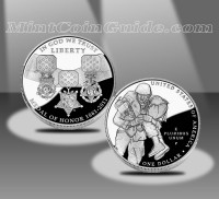2011 Medal of Honor Proof Silver Dollar (US Mint images)