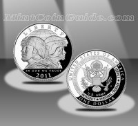 2011 United States Army Commemorative Proof Silver Dollar (US Mint images)