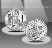 2011 United States Army Commemorative Uncirculated Half Dollar Coin (US Mint images)