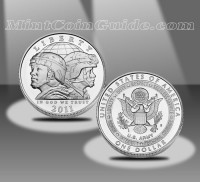 2011 United States Army Commemorative Uncirculated Silver Dollar (US Mint images)