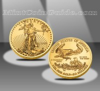 2011-W $50 American Eagle Gold Uncirculated Coin - 2008 Version Shown (US Mint images)