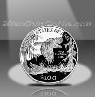 1999 Proof American Platinum Eagle Coin, Reverse