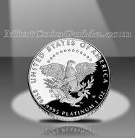 2005 Proof American Platinum Eagle Coin, Reverse