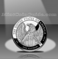 2007 Proof American Platinum Eagle Coin, Reverse