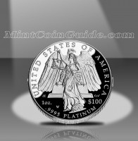 2008 Proof American Platinum Eagle Coin, Reverse