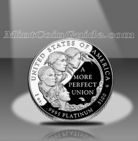 2009 Proof American Platinum Eagle Coin, Reverse