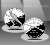 2012 Infantry Soldier Commemorative Proof Silver Dollar