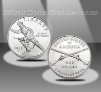2012 Infantry Soldier Commemorative Uncirculated Silver Dollar