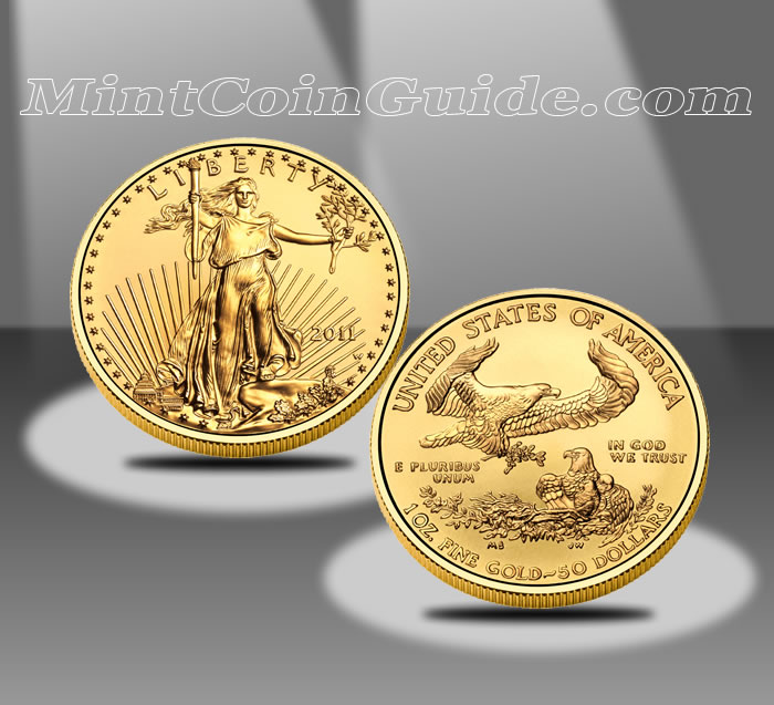 2012-W $50 American Eagle Gold Uncirculated Coin - 2011 Version Shown (US Mint images)
