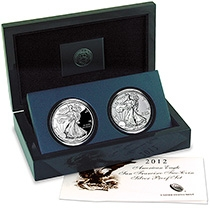 2012 American Eagle San Francisco Two-Coin Silver Proof Set